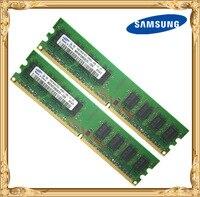 Samsung Bureau mémoire 2 GB 2x1 GB 667 MHz PC2-5300U DDR2 PC RAM 667 5300 1G 240-pin livraison gratuite