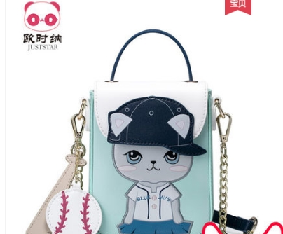 Princess sweet lolita JUSTSTAR bag Adorable fun convenient mobile phone bag all-match Korean and fashion chain bag women 171499