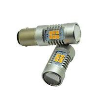 2x Super Bright S25 1156 21 SMD LED BA15S P21W Auto Car Signal Reverse Led Lights
