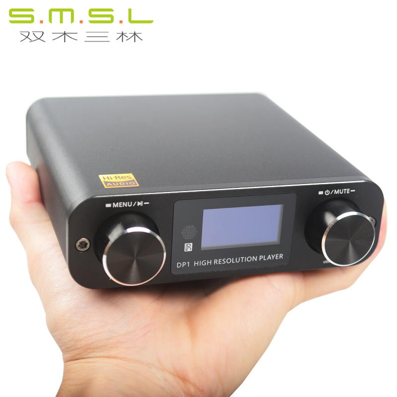 SMSL DP1 HIFI Lossless Player AK4452 Audio USB DAC Decoding Digital Turntable Amplifier SD Card/Optical/USB Input DC9V