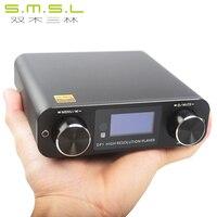 SMSL DP1 HIFI sin pérdida reproductor AK4452 Audio decodificación DAC USB tocadiscos Digital tarjeta SD amplificador/óptico/USB de entrada DC9V