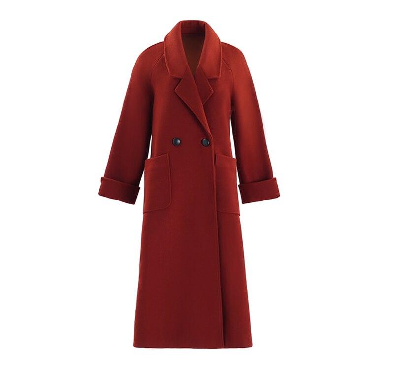 Laine Couleur Sur De Manteau Qualité Tempérament S929 Genou Et Section Haute Le Femme Long Nouveau 2018 Longue D'hiver Solide Mélanges twnAzt7q