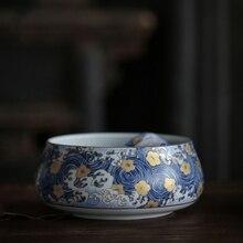 """Розовый """"Звездная ночь"""" цветной эмалированный чаши для мытья чая 1000 мл китайский чайный набор кунг-фу аксессуары для чайной церемонии контейнер для воды"""