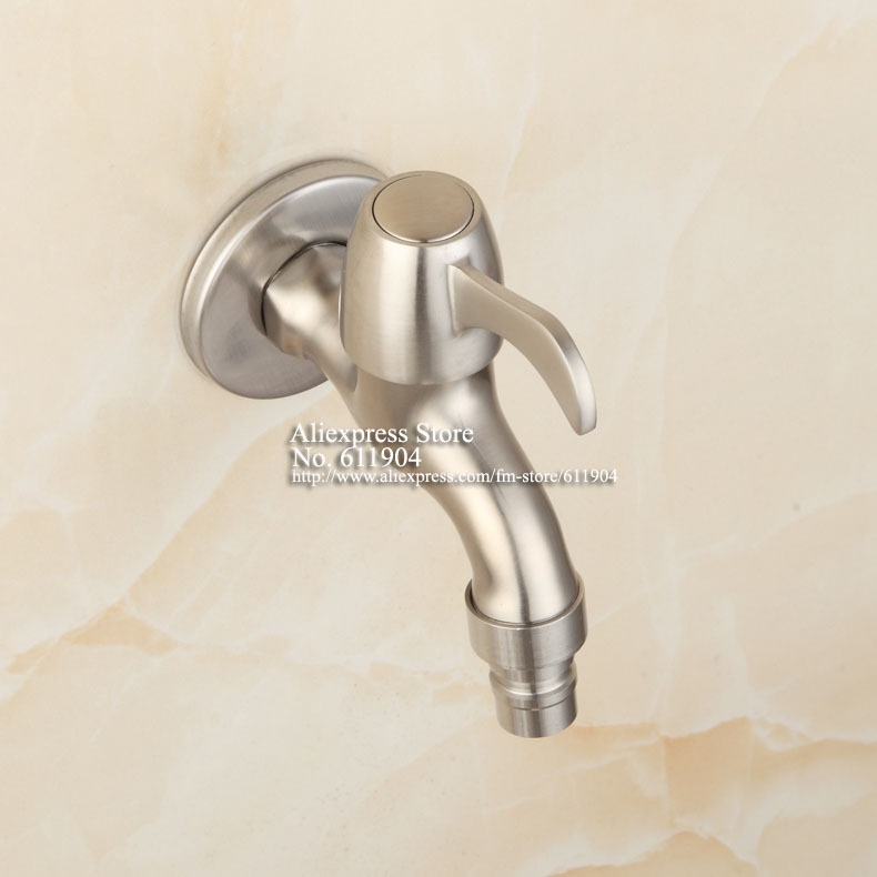 SUS304 Stainless Steel Laundry Bathroom Washing Machine Faucet Wall ...