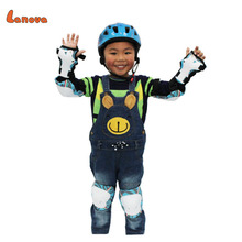 LANOVA 7 pcs/set Children Safety Protector Gear Skating Bicycle Skateboard Helmet knee elbow pads wristguard Roller Protector