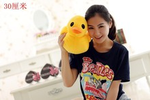 cute new plush yellow duck toy lovely big yellow duck doll pillow birthday gift about 30cm