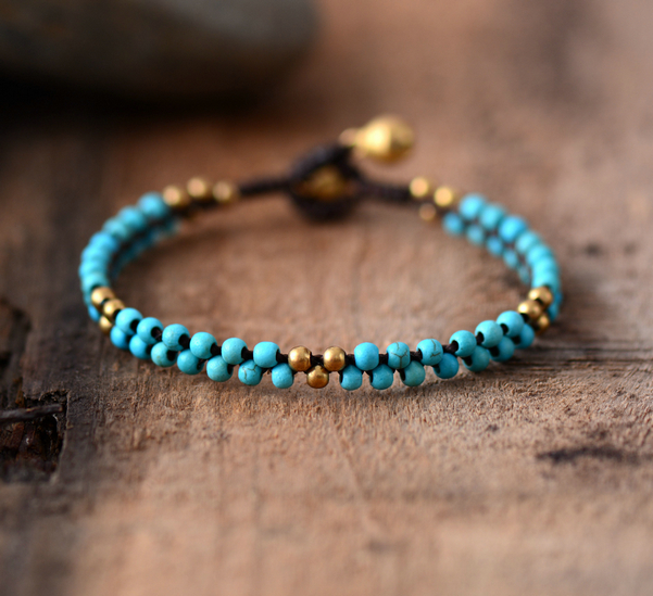 Woman Boho Bracelets Handmade Stones Br Beads Wax Cord Simple Friendship Bracelet Braided Dropshipping Jewelry In Wrap From