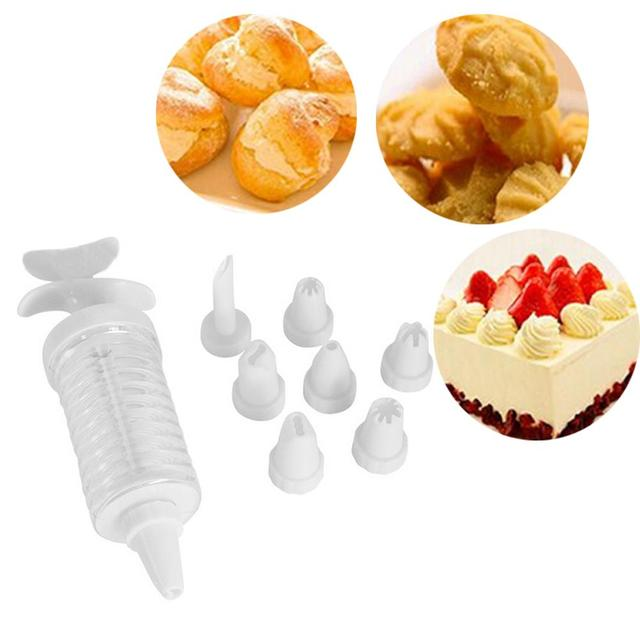 8pcs Set Professional Cake Decorators Plastic Pastry Nozzles Piping Tips Set For Baking Puffs Cream