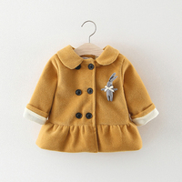 BibiCola New Hot Sale Cartoon Jacket For Girl Baby Warm Coat Infant Autumn Winter Cartoon Outwear Girls Cotton Clothing
