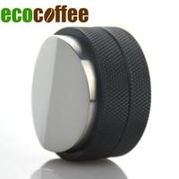 New Arrival Creative Maracon Coffee Hammer Espresso machine Powder Tamper Mini Adjustable Convex Coffee Tamper 58MM Black Stock