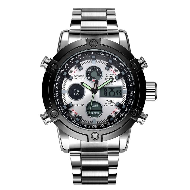 Horloges Heren 2018 Topmerk AMST 3022 Dual Display Horloges Luxe - Herenhorloges - Foto 2