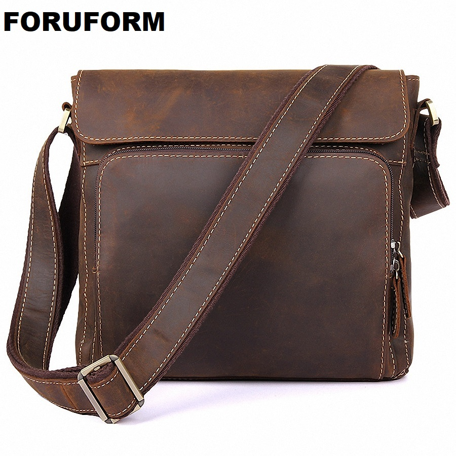 ForUForM 100% Genuine Leather Men Bag men's Briefcase Fashion cowhide Men's Messenger Bags Tote Shoulder crossbody bags LI-1936