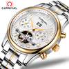 CARNIVAL The New 2017 Men S Fashion Automatic Mechanical Watch Relogio Masculino Tourbillon Leather Luxury Brand