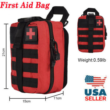 US Tactical First Aid Kit Survival Molle Rip-Away EMT Pouch Bag IFAK Medical Red my days tactical ifak first aid bag molle emt rip away medical military utility pouch rescue package for travel hunting hiking