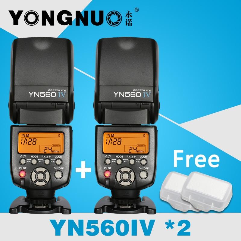 2 YONGNUO YN560 IV 2.4 Г Беспроводной Мастер и Группы Флэш Speedlite Костюм для Canon Nikon Pentax Sony Камера, YN-560 IV, YN560IV