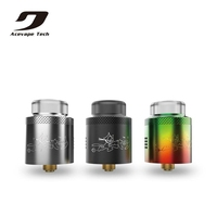 Original Acevape Tech Bomb Cat Mesh RDA Tank Dual Coil 24mm With 16 Side Airflow Holes For NexMESH Coil VS Wotofo Profile RDA