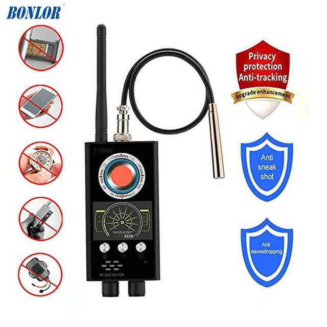 Anti Spy RF Detector Wireless Bug Detector Signal for Hidden Camera Laser Lens GSM Listening Device Finder Radar Radio Scanner