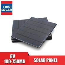 Солнечная панель постоянного тока Sunpower 6 в 100mA 167mA 183mA 333mA 500mA 583mA 750mA элемент для солнечной батареи портативное зарядное устройство для телефона