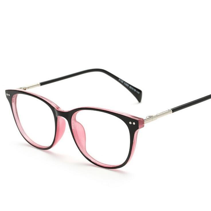 2018 Frauen Optische Retro Brillen Rahmen Unisex Spektakel Rahmen Mode Brillen Vintage Mit Klar Objektiv Oculos 8122