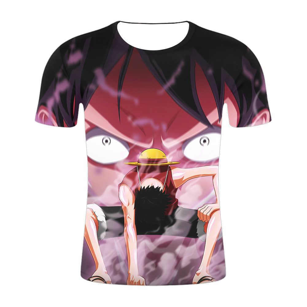 2019 3D принт Новая летняя аниме Мужская футболка одна штука/Наруто/отбеливатель/Стальной алхимик персонаж забавная Повседневная футболка Homme