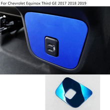 Car body garnish trim rear back tail USB exhaust outlet Air conditioning Vent 1pcs For Chevrolet Equinox Third GE 2017 2018 2019