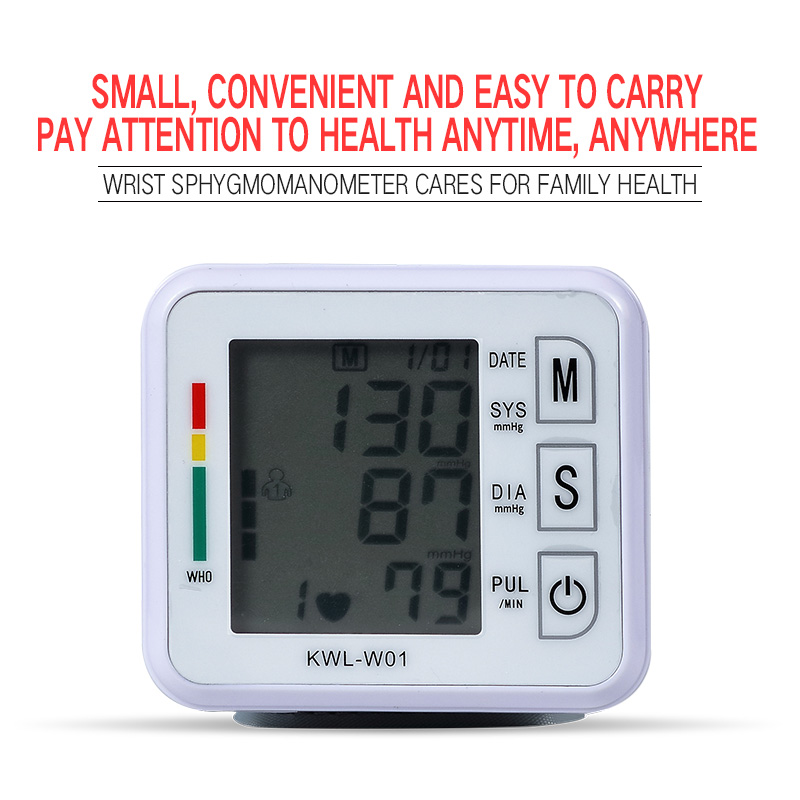 Handgelenk Blutdruck Monitor Maschine Automatische Tonometr Tensiometro Bp Herz Schlagen Rate Monitor Handgelenk Blutdruckmessgerät pulsometer