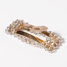 New Ins Luxury Shine Crystal Rectangle Hair Clip Cute Headwear Ornament Hairpin Barrettes Headband Fashion Accessories
