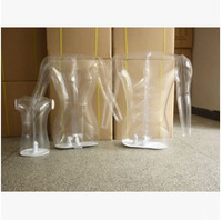 Free Shipping!!Transparent Mannequin Clear Torso Form inflatable Torso Form Mannequin Clothing Display Form Inflatable Mannequin