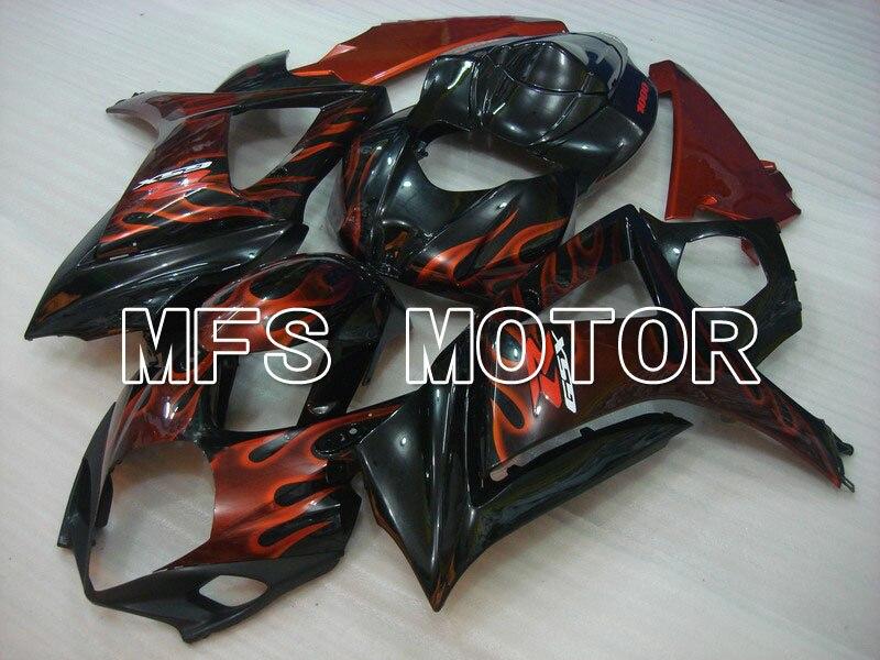 Для Suzuki GSXR 1000 К7 2007 2008 Кузов АБС впрыска Обтекателя комплекты GSXR1000 К7 07 08 - пламени оранжевый - черный