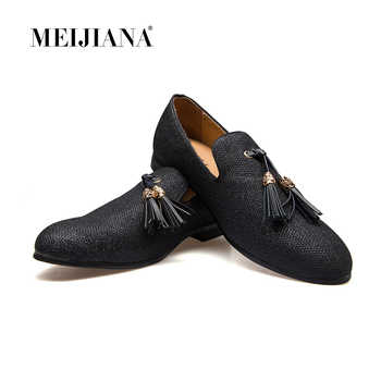 Handmade Metal fashion gold Tassel of Loafers Red Bottom Loafers Gentleman Luxury Fashion Stress Shoes Men Brand Men Shoes - DISCOUNT ITEM  49% OFF All Category