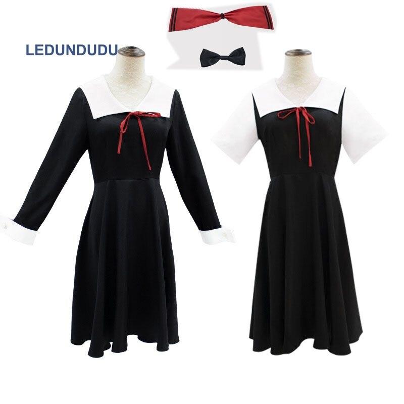 9b95ec4649c459d Kaguya-sama: Love is War Косплей Костюм Kaguya Shinomiya платья Chika  женская школьная форма
