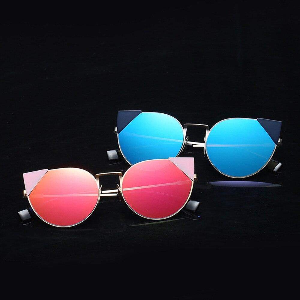 2017 Vintage Aviator Mirror Unisex Cat Eye Sunglasses Brand Designer Male Gafas Reflective Sun Glasses for Women oculos de sol