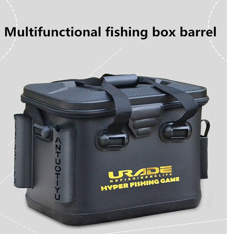 Seau pliant portatif d'eva de boîte de pêche de leurre multifonctionnel pour l'eau de poisson avec la poignée sac de matériel de pêche extérieur étanche