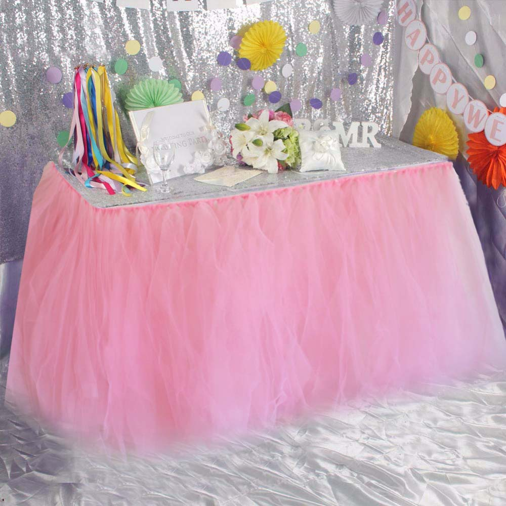 Tulle Table Skirt Decoration Cover Diy Tutu Lace Princess Table