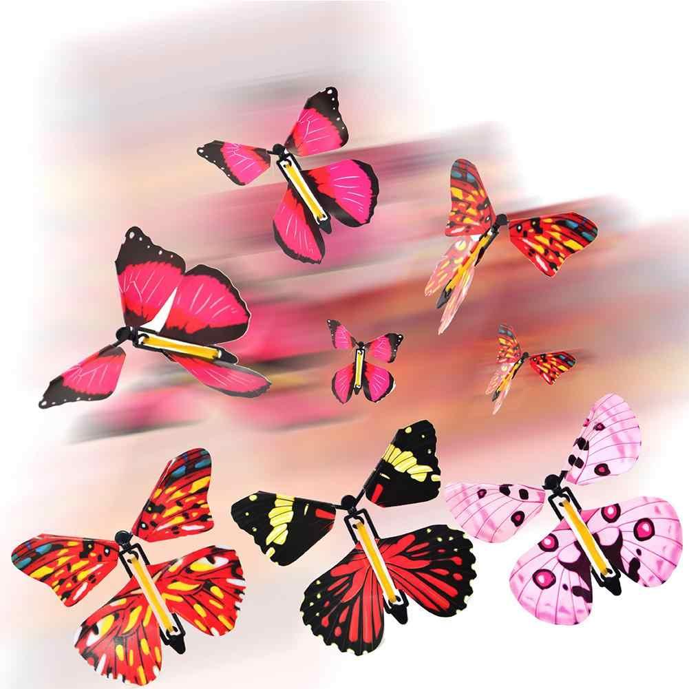 10 Uds cambio mariposa voladora mágica de manos vacías libertad mariposa Primer plano accesorios de magia trucos de magia para niños Juguetes