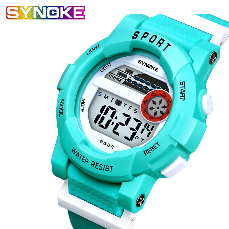 SYNOKE Children's Watches Girls Boys Kids Watches Waterproof Digital Quartz Watch Gift Children Relogio Infantil Menino