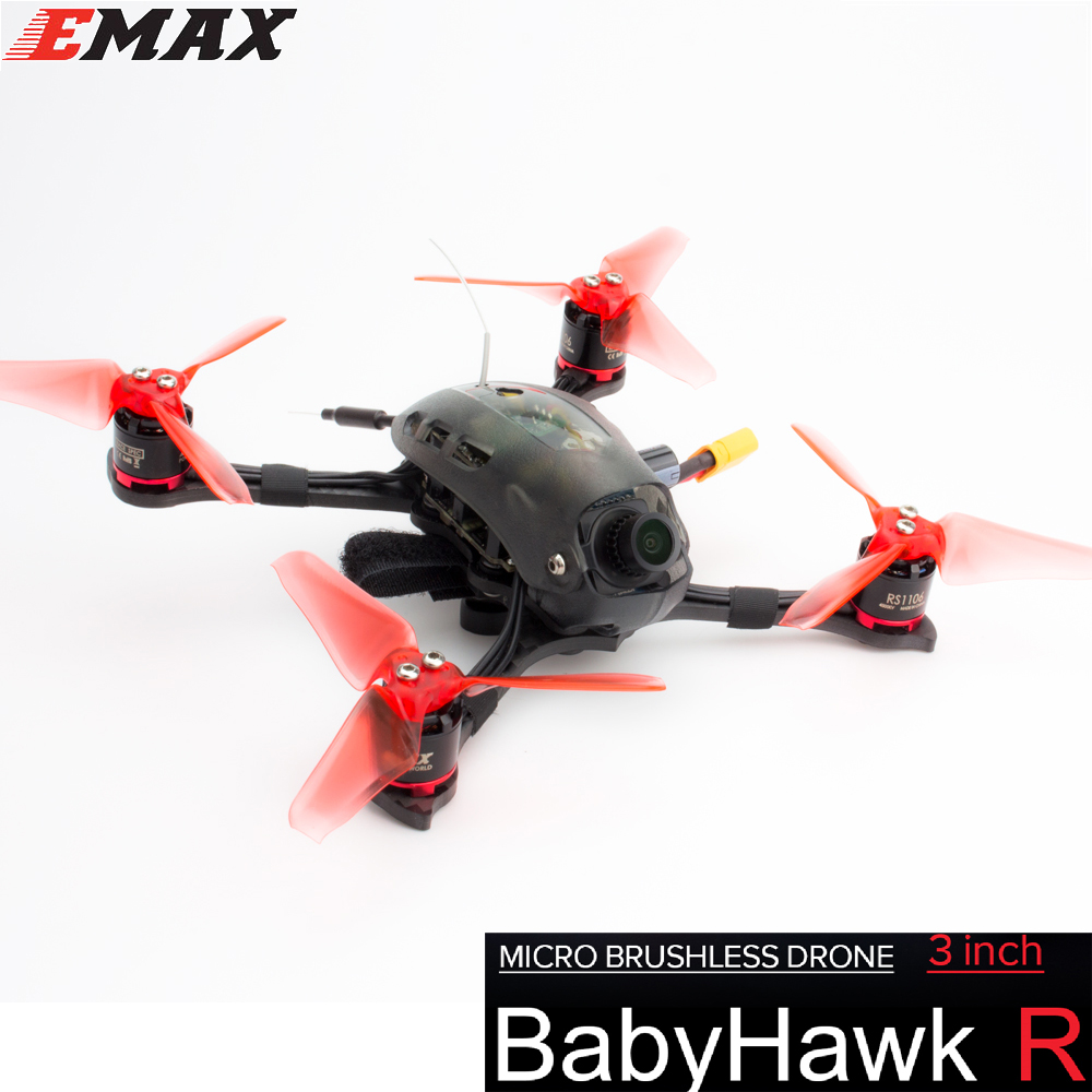 Emax Babyhawk R Edition 112mm F3 Magnum Mini 5.8g FPV Drone De Course 3 s/4S RC Quadcopter PNP/BNF Caméra FPV Drone De Course
