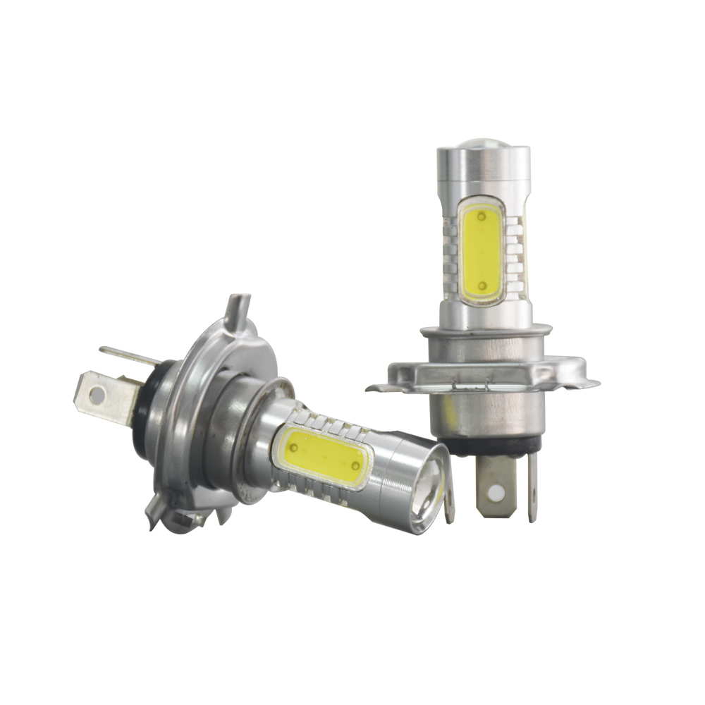 2pcs LED h4 7.5w high power Turn Brake Stop Signal Tail Fog Light White Lamp h4 led bulb Fog light