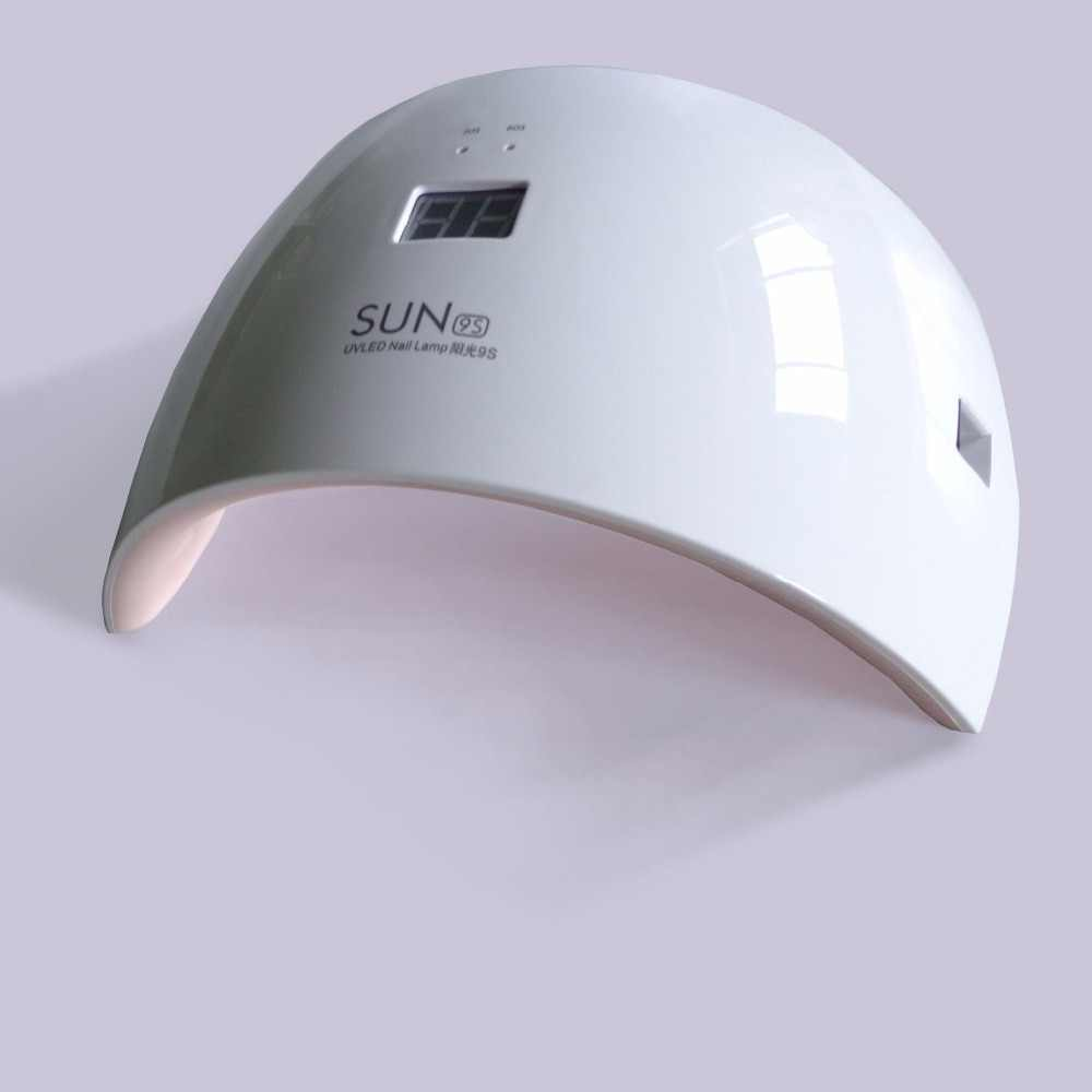 SUN 9C/9S UV lamp 24W Nail Dryer UV Lamp for Dryer Curing all Gel Polish White Double Light Led Nail Lamp Timer Machine Tool