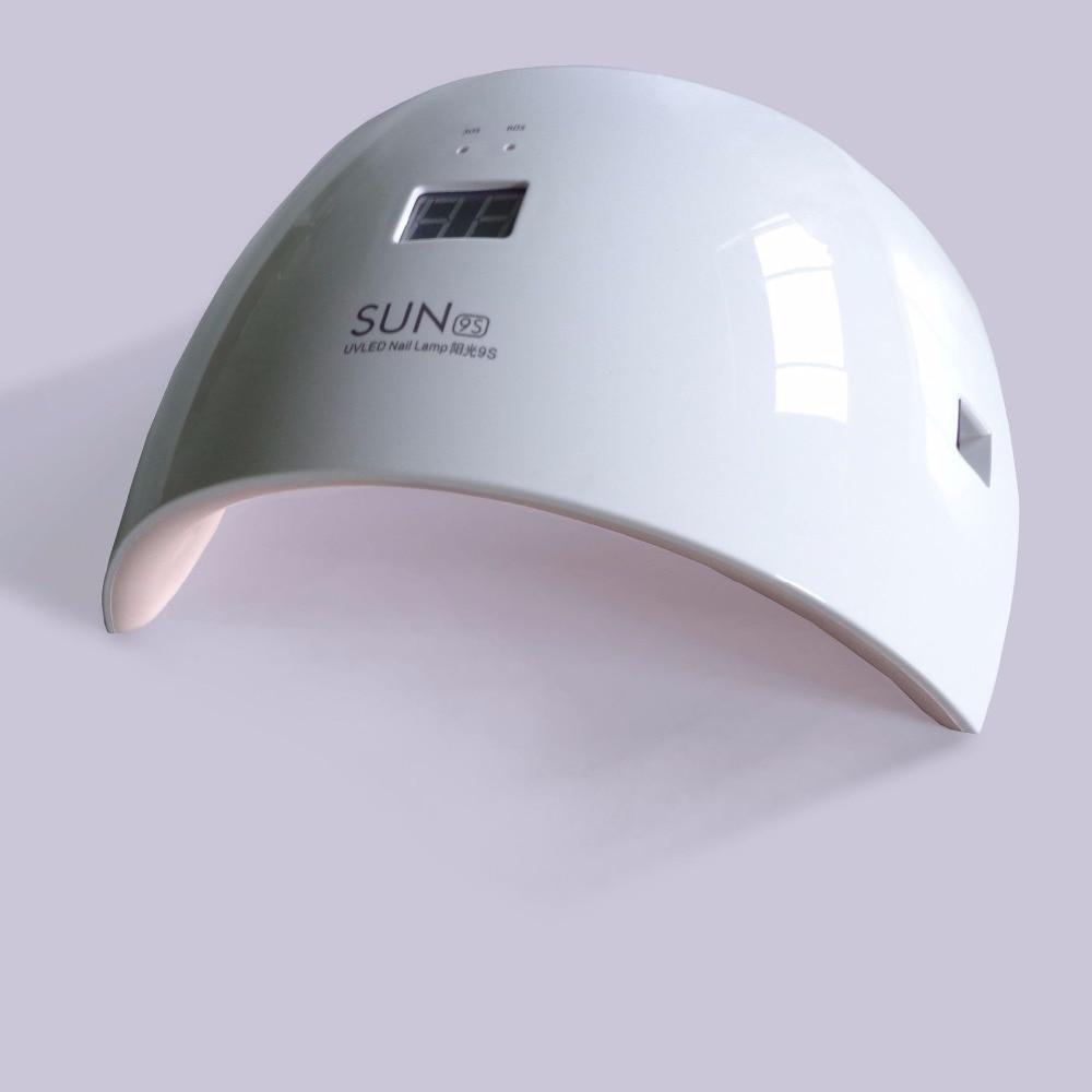 SUN 9C/9S UV lamp 24W Nail Dryer UV Lamp for Dryer Curing all Gel Polish White Double Light Led Nail Lamp Timer Machine Tool