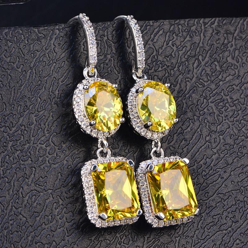 HTB1vwUeSmzqK1RjSZFpq6ykSXXa7 PANSYSEN 2019 Luxury Natural Emerald Women's Drop Earrings Genunie 925 silver Jewelry Earrings For Women Party Engagement Gifts