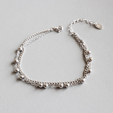 HFYK 925 Sterling Silver Bracelet Bangle 2019 Round Beads Chain Bracelets For Women pulseras plata de ley mujer bileklik