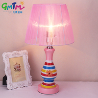 Modern Style Pink Desk Light Glass Table Lamp Girl Bedroom Creative Night Lamp Bedside Warm Light