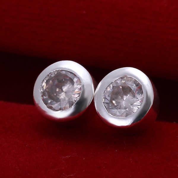 925 sterling bạc nữ trang bạc earrings hot bán thời trang earring finding ear cuff big vòng pha lê đá stud earring CE093