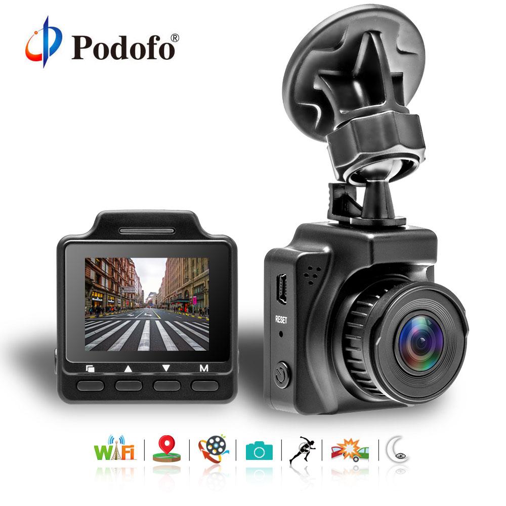Podofo 1.5 Mini Dash Camera Novatek 96658 GPS Navigation Car DVR Video Registrar Recorder FHD 1080P WiFi G-Sensor Car Camera цена