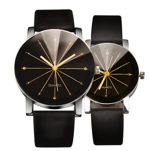 2017 new Men's Quartz Relogio Masculinos Dial Glass Time Men Clock Leather Business Round Case Hour Watch Relojes Hombre clock