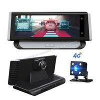 4G ADAS Автомобильный видеорегистратор Камера gps 7,84 Android 5,1 Dashcam регистратор Full HD 1080 P видеорегистратор с двойным объективом Видеорегистраторы