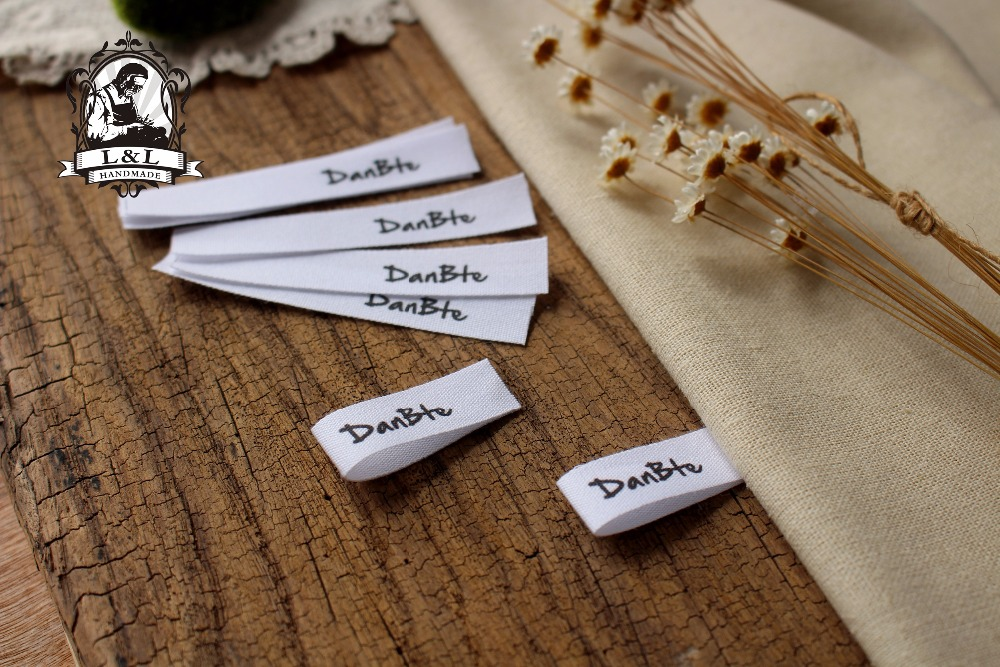 Custom Sewing Labels / Brand Labels, Custom Clothing Tags, Cotton Ribbon Label (MD14)