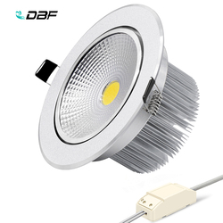 [DBF]High Power COB Downlight Dimmable Recessed LED Ceiling Lamp 7W 9W 12W 15W 18W LED Spot Light with AC85-265V LED Transformer