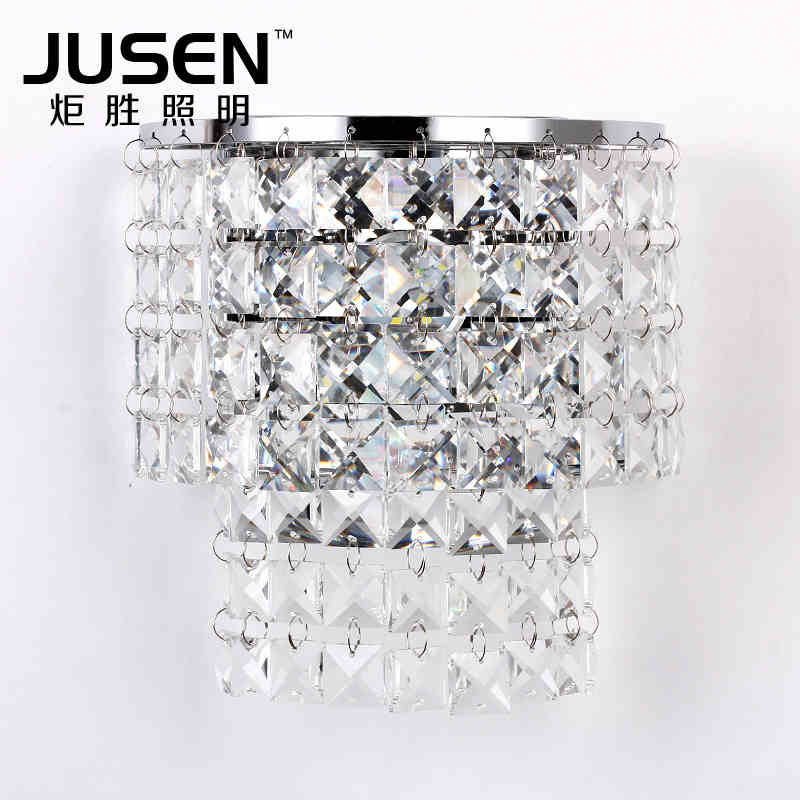 The living room bedroom bedside wall lamp LED modern K9 crystal aisle Hotel lighting modern k9 crystal wall lamp american wall lamps bedroom bedside aisle led european lighting new chinese led bracket light